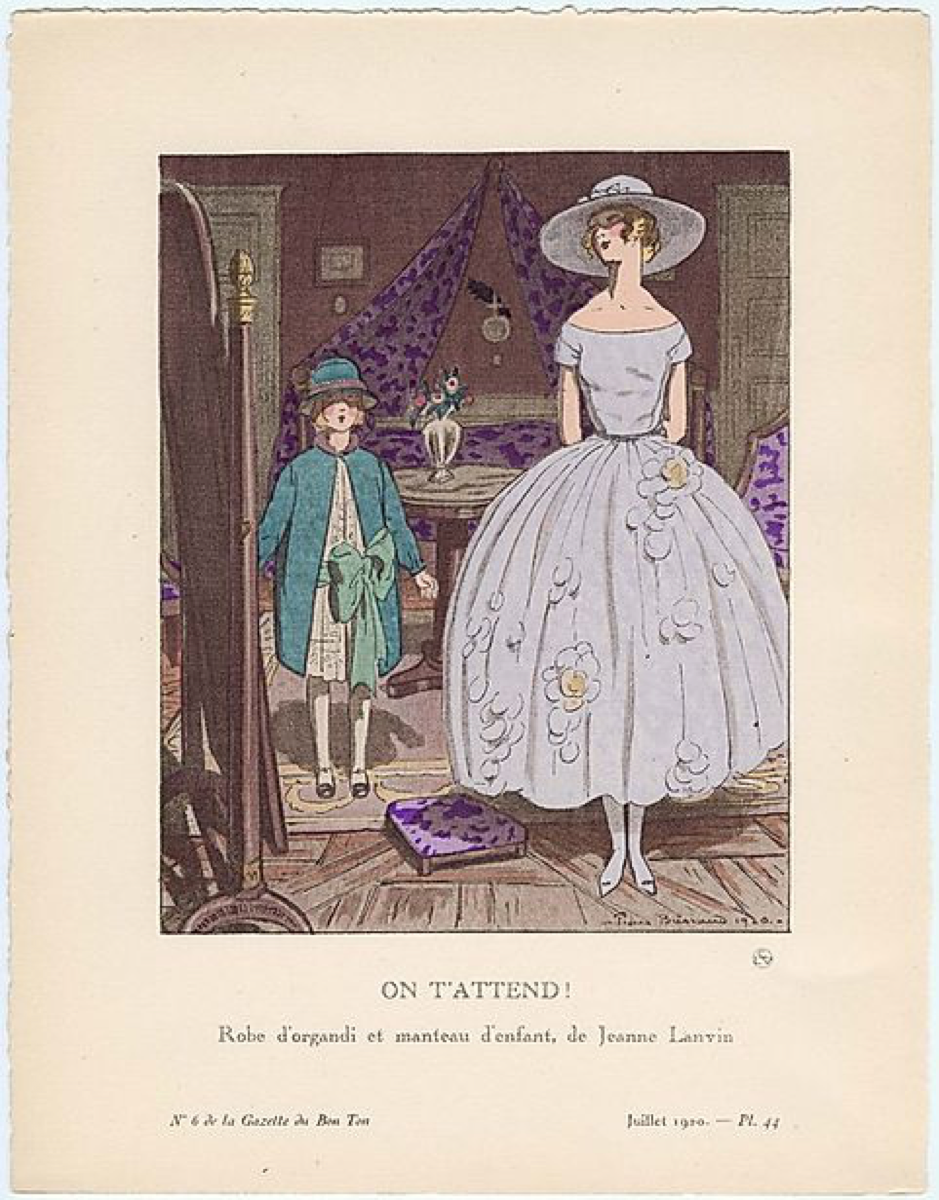 Dressing De Petite Fille like mother like daughter: jeanne lanvin and gazette du bon