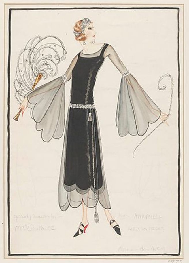 norman hartnell 1923 cocktail dress