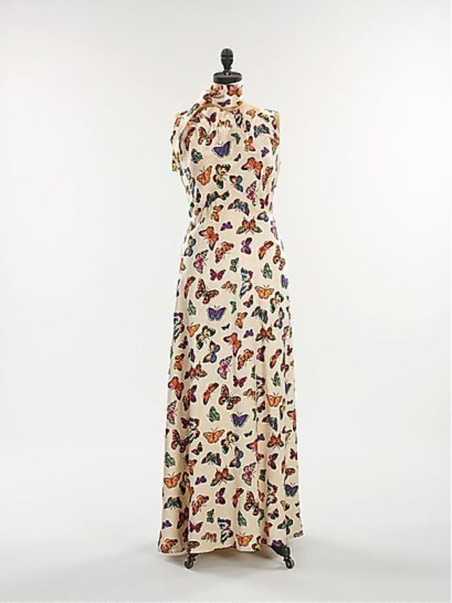 schiaparelli butterfly dress