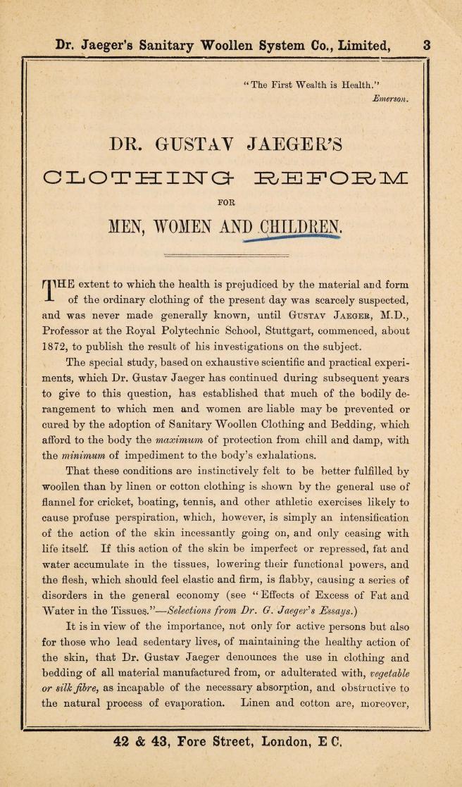 jaeger dress reform